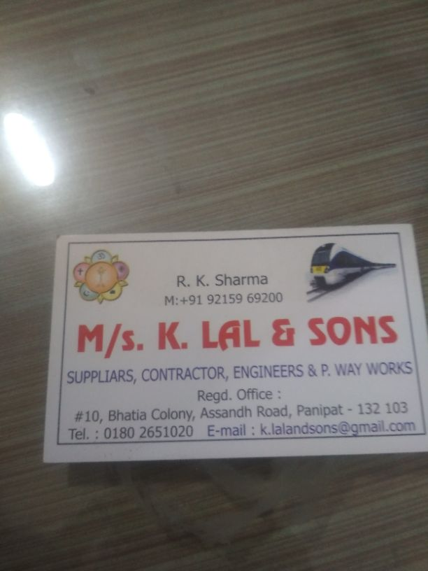 K LAL AND SONS