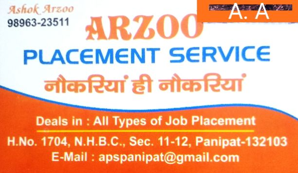Arzoo Placement Service