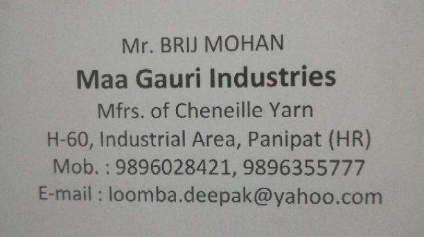Maa Gauri industries