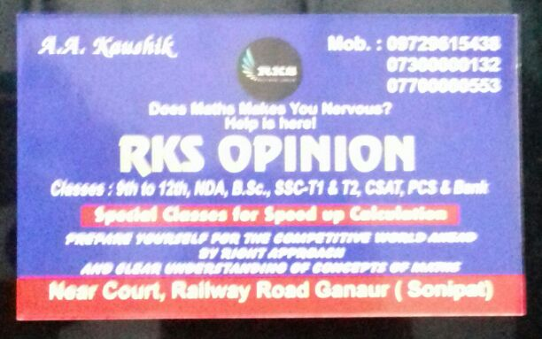 RKS OPINION