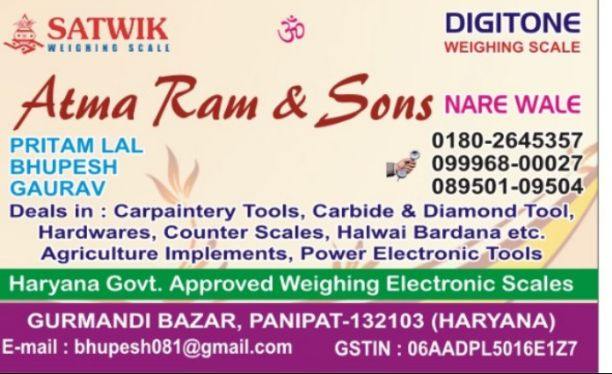 ATMA RAM AND SONS