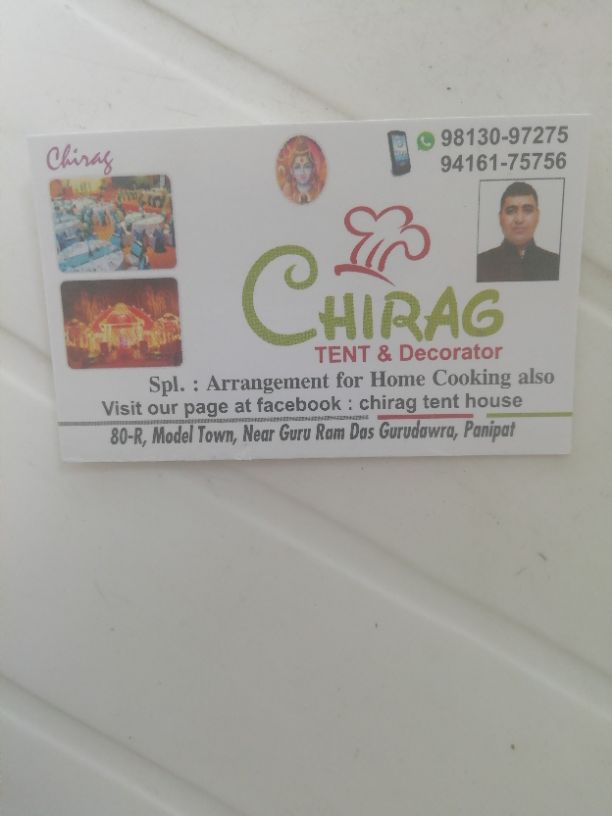 CHIRAG TENT AND DECORATOR