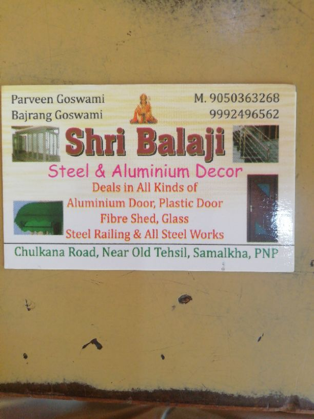 SHRI BALAJI STEEL AND ALUMINIUM DECOR