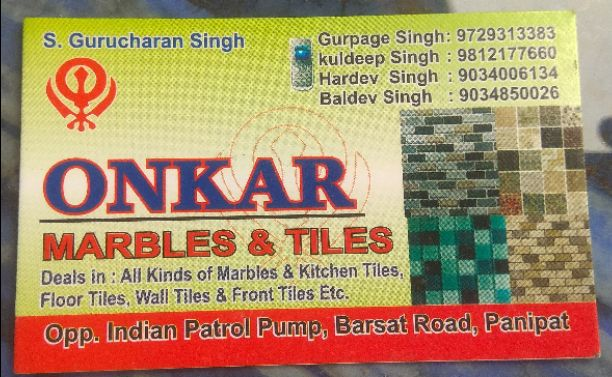 ONKAR MARBLES AND TILES