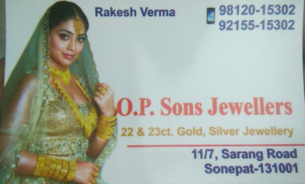 O. P sons jewellers