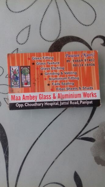 MAA AMBEY GLASS AND ALUMINIUM WORKS