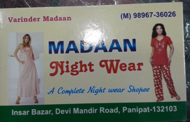 MADAAN NIGHT WEAR
