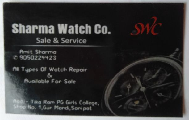 SHARMA WATCH COMPANY