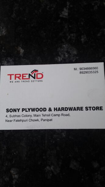 SONY PLYWOOD AND HARDWARE STORE