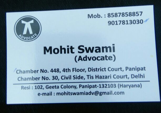 ADVOCATE MOHIT SWAMI