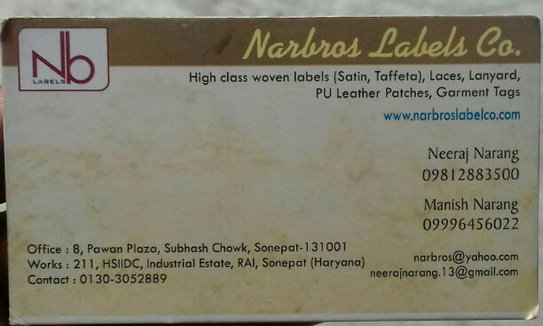 NARBROS LABELS COMPANY
