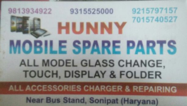 HUNNY MOBILE SPARE PARTS
