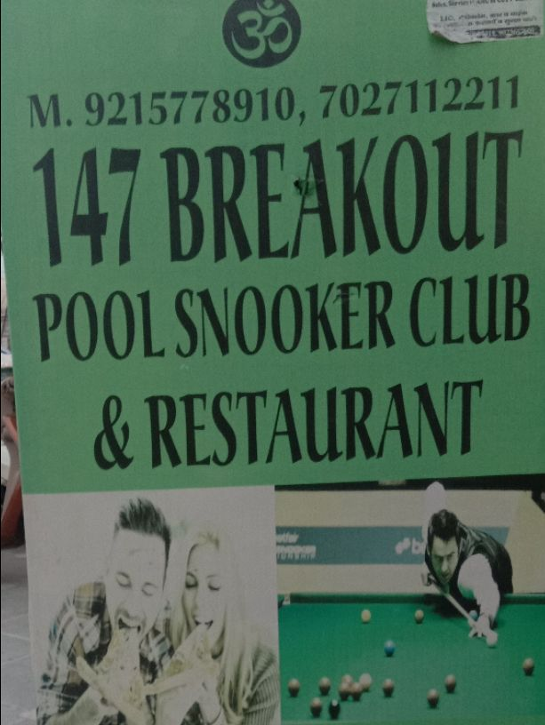 147 BREAKOUT POOL SNOOKER CLUB AND RESTAURANT