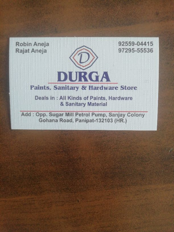 DURGA PAINTS SANITARY AND HARDWARE STORE