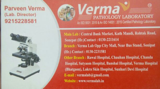VERMA PATHOLOGY LABORATORY