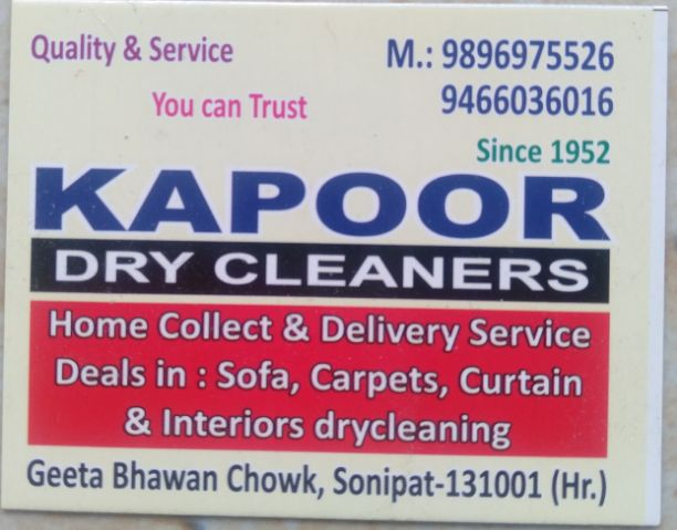 KAPOOR DRY CLEANERS