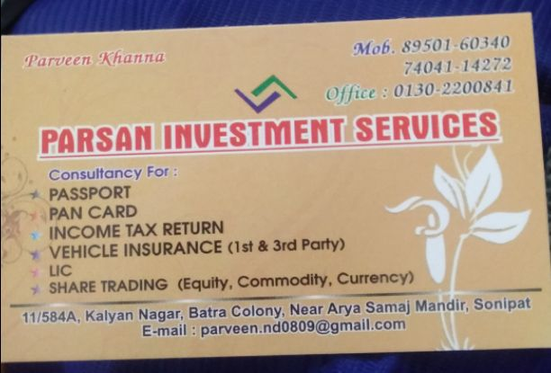 PARSAN INVESTMENT SERVICES