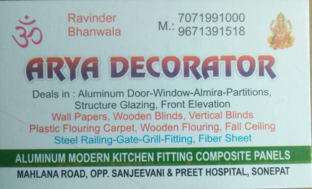 ARYA DECORATOR
