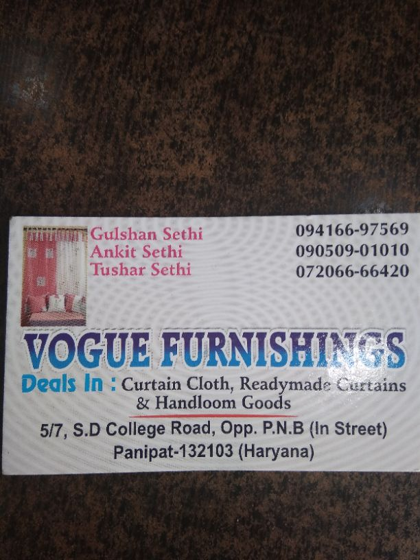 VOGUE FURNISHINGS