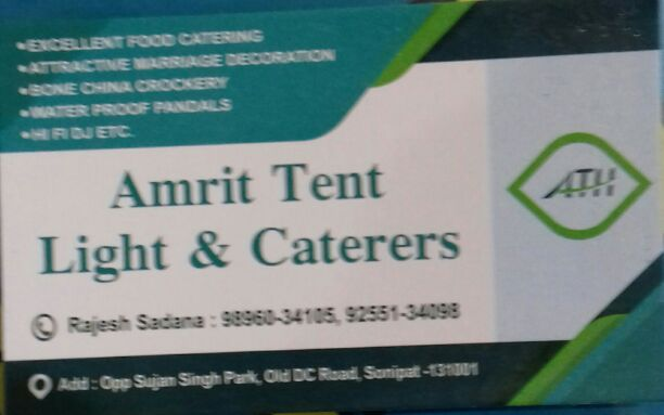 AMRIT TENT LIGHT AND CATERERS