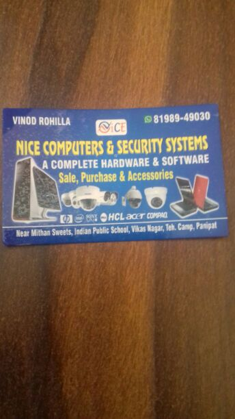 NICE COMPUTERS AND SECURITY SYSTEM