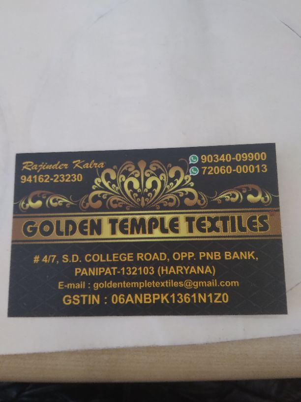 GOLDEN TEMPLE TEXTILES