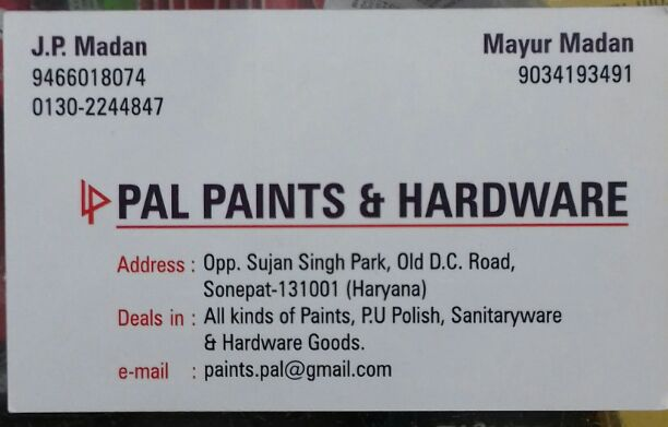 PAL PAINTS AND HARDWARE