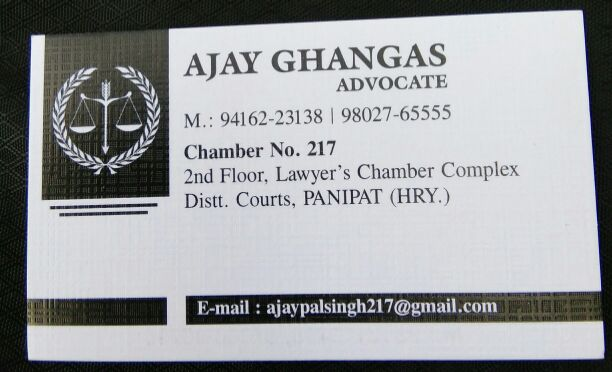ADVOCATE AJAY GHANGAS