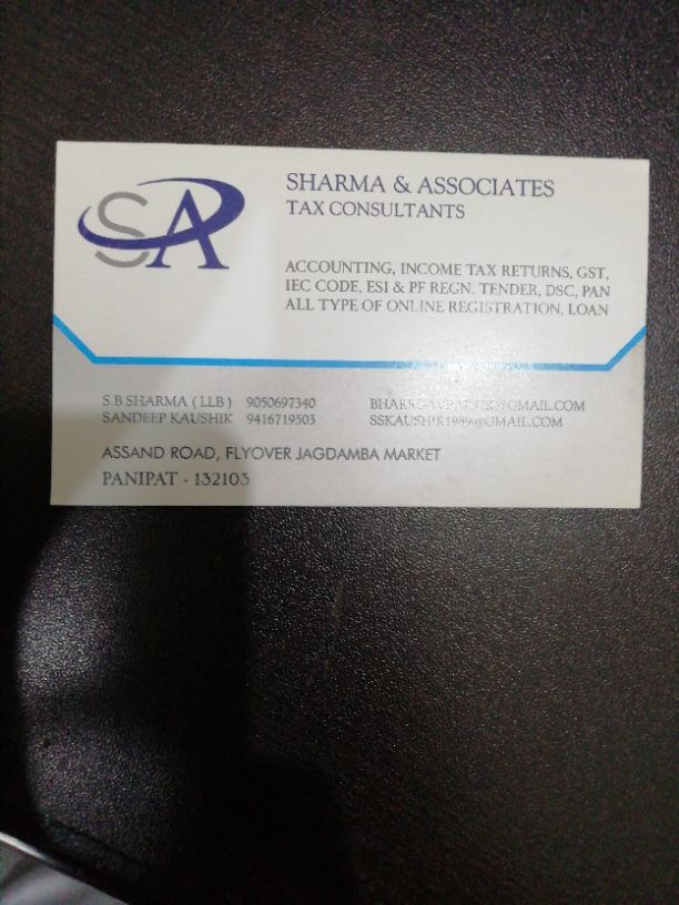 SHARMA AND ASSOCIATES TAX CONSULTANTS